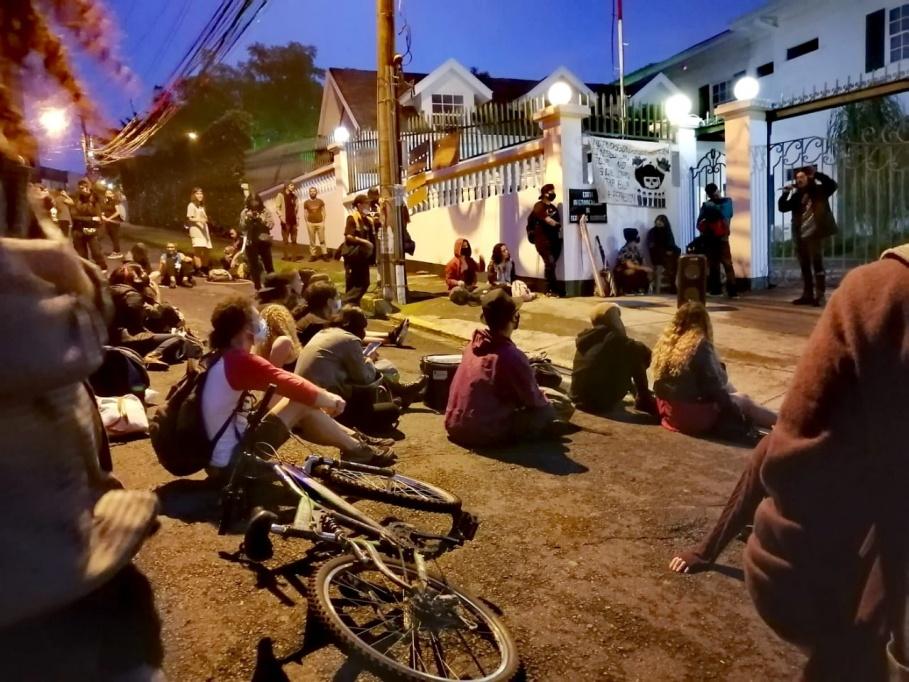 Costa Rica. Manifestación frente a la Corte Interamericana de Derechos Humanos CIDH