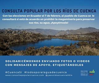 Ecuador. Apoyemos a Cuenca que lucha por su agua