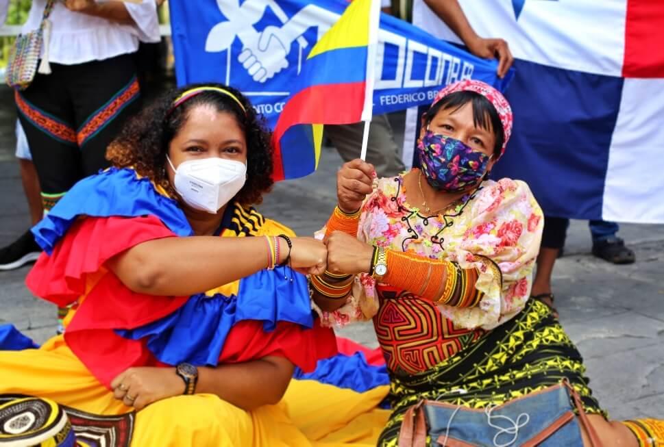 Panamá se solidariza con el pueblo colombiano [Multimedia]