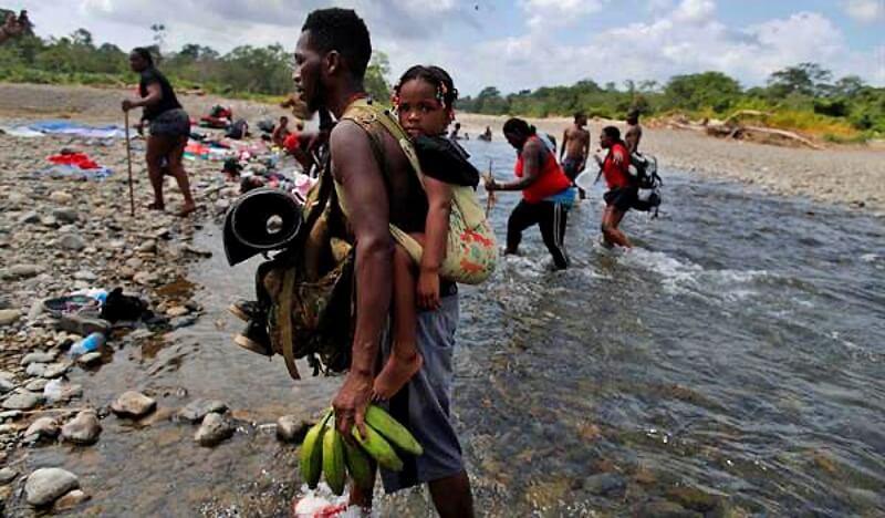 Panamá. Crisis migratoria. Un escenario en el Tapón de Darién