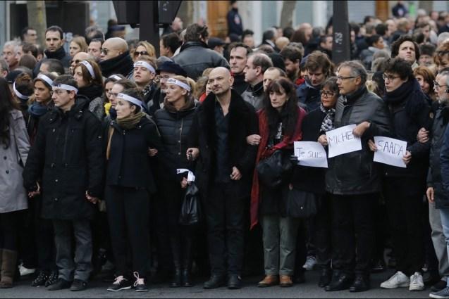 Marsul Solidaritatii de la Paris -apropiatii victimelor