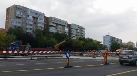 trafic ingreunat Calea Sagului lucrari mall Dermatina sept 2015 (1)