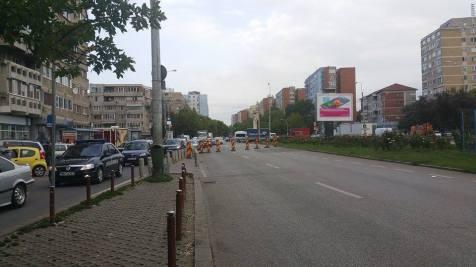 trafic ingreunat Calea Sagului lucrari mall Dermatina sept 2015 (8)