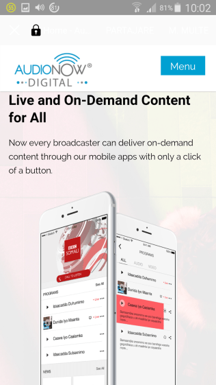 app 41 audionow live and ondemand content