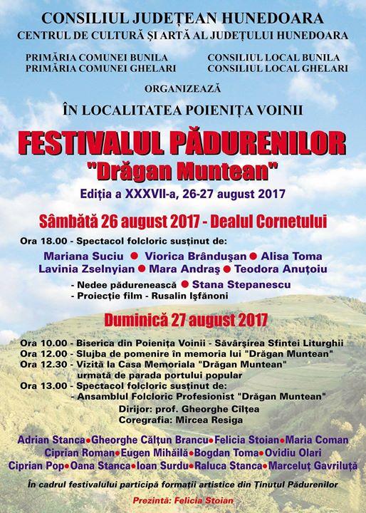 Afis Festivalul padurenilor