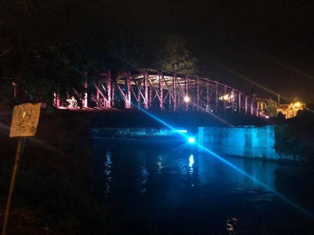 podul de fier iluminat Timisoara (1)