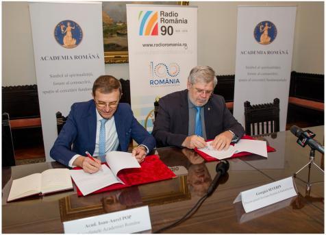 Acord de colaborare SRR Academia Romana2 6nov2018 Foto Alexandru Dolea