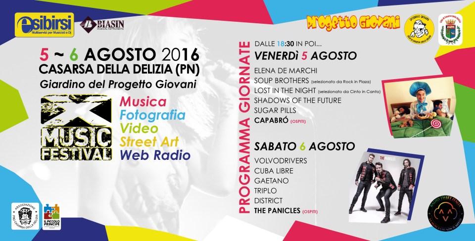 Copertina X MUSIC FESTIVAL 2016
