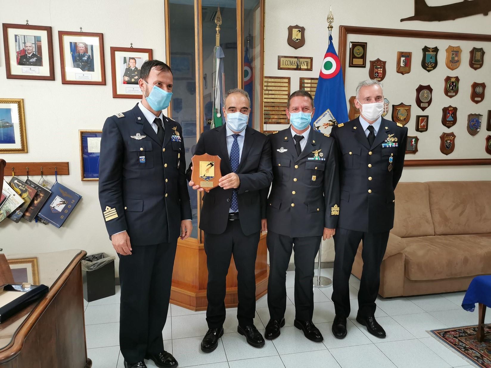 Lentini, il Sottosegretario alla Difesa, Giulio Calvisi, in visita al 41° Stormo dell'Aeronautica Militare di Sigonella.