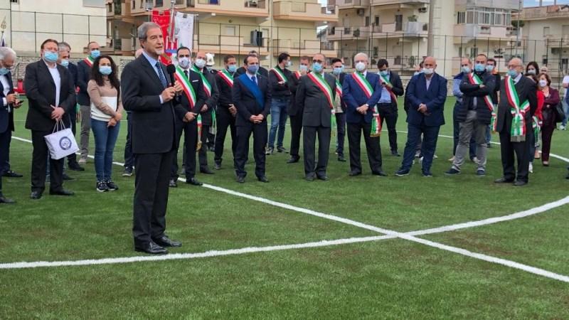 Santa Teresa Riva, Sport: Musumeci inaugura il nuovo stadio di calcio