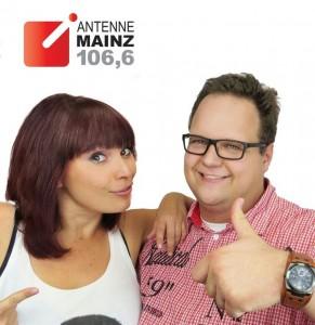 """Doppel Desi und Marco Themel, die beiden Neuen in """"Guten Morgen Mainz"""" Foto: ANTENNE MAINZ"""