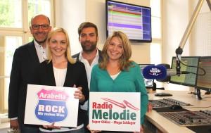 Das Team von Radio Arabella beim Sendestart von Digitalradio DAB+