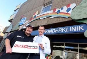 ffn-Spendentag Morgenmän Franky und Prof. Dr. Kratz