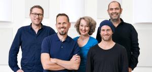 Jan Weiler, Achim Bogdahn, Dagmar Golle, Mehmed Scholl und Hannes Ringlstetter (v.l.n.r.), BR/Denis Pernath