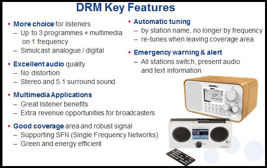 Key features of Digital Radio Mondiale for India