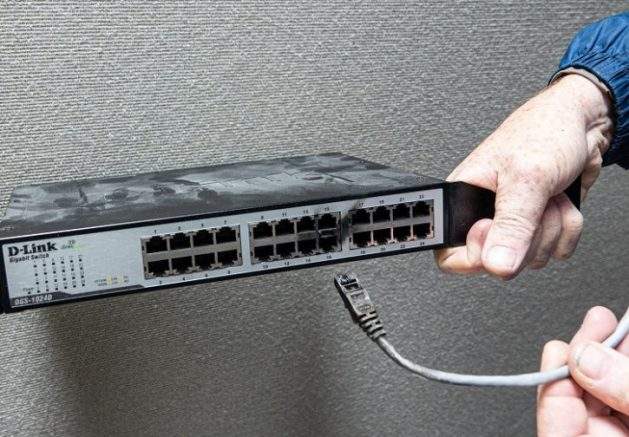 Fig. 6 The network switch was damaged beyond repair