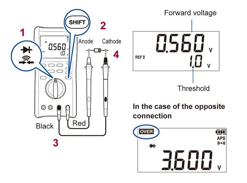 cara-menggunakan-digital-multimeter-dt4282-dioda
