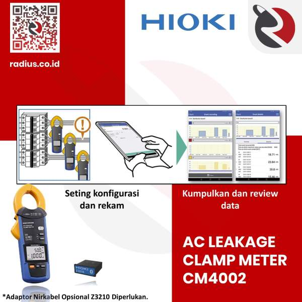 harga hioki cm4002 z3210 ac leakage clamp meter bluetooth