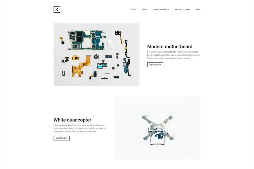 Kraft is a creatively crafted personal portfolio website template