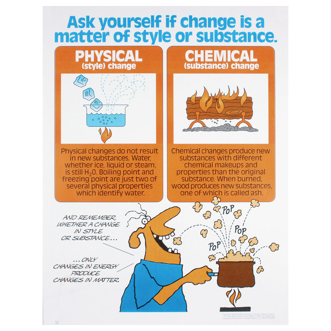 Chemistry Chemical Changes Versus Physical Changes