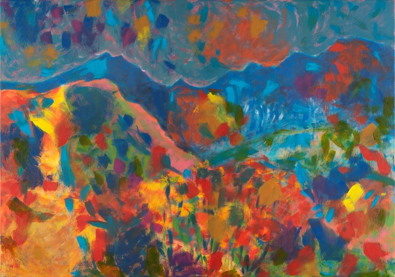 Summer mountains Acrylic on canvas Contemporary painting for sale