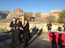 Kids in formal wear at Water Station