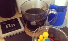 Coffee, water, & m&m mega = afternoon dessert/snack ^_^ #caffeine #sweets #applehqwares