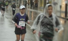 It's #FlashbackFriday for day 3 of Instagram challenge.  This was the 2011 LA Marathon, a rainy event where I PR'd but got mild hypothermia after. It was also 20 days after my close friend died from pancreatic cancer. #BHLent2015 @bustedhalophoto #CSLentIPJ @catholicsistas