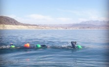 It was a beautiful morning for 1,800yd #ows at Lake Mead. #swimlasvegas