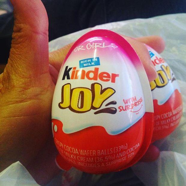 ZOMG. #kindersurprise #chocolate #bannedinusa