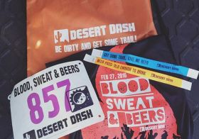One bib. Two distances. Morning + Night! #desertdash #trailrunning #beyondvegas [instagram]