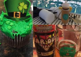 Warmup: mini cupcake; Main set: Swim intervals; Cooldown: @bootleggersbrew Far Out #IPA #triathlon #training #stpaddysday [instagram]
