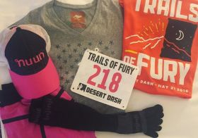Next week is build phase for #IM703SC. So I'm finishing my base #triathlontraining w/ some fun 10K morning + 21K night trail racing. #nuunlife #desertdash #trailsoffury #trailrunning #runyonusa #injinji [instagram]