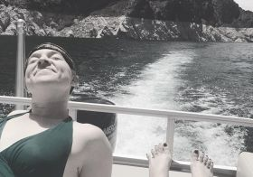 I'm on a boat… 😎 [instagram]