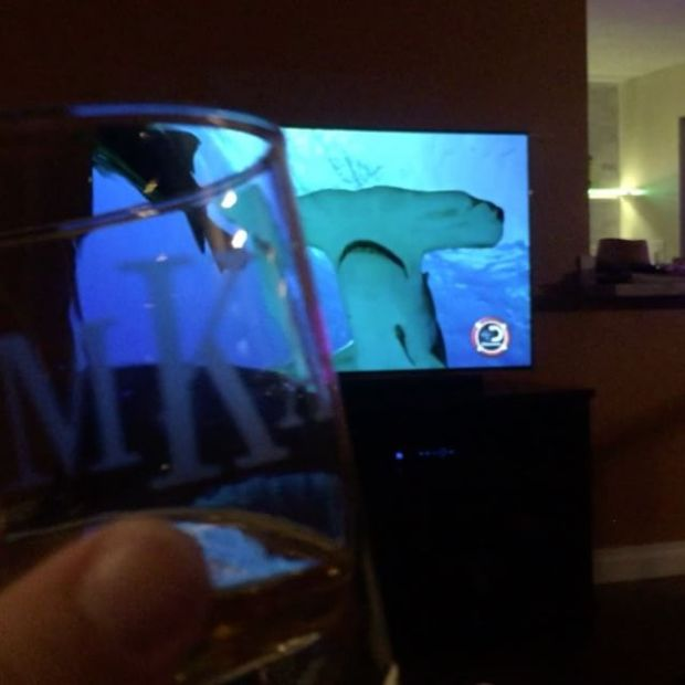 Macallan 17 with my bro & sis... whilst watching Phelps vs Shark lol