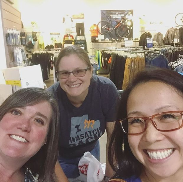 Excited to see these ladies at packet pickup and to race my penultimate Tri of the season tomorroz! Let's rock it, grrrls!