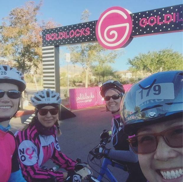 Goldilocks Las Vegas this morning was fantastic! So great to ride with @runskatebikewine @yhtorod @l3330c and Sandra. #cycling