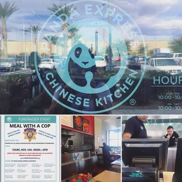 Takeaway lunch + supporting Friends of @lvmpdfoundation = Sweet. 🏽#pandaexpress #fundraising