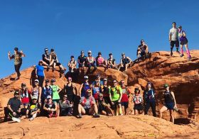 Fun run to Li'l Red Rock yesterday with @rebeccarunstrails Monday Trail Group + potluck after was awesome! Also, I finally got to see the Petroglyphs after several visits to LRR. Group : @roberekson #trailrunningvegas #trailjunkie #hshive #baseperformance [instagram]