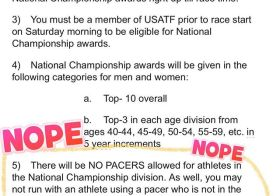 USATF has me like… Nope.  I've never been this excited about not competing (for AG at the USATF 100mi Championships, aka Jackpot Ultra!) #ijustwannafinish [instagram]