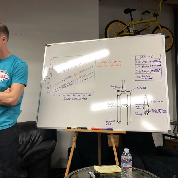 It was another informational @thisdirtlife clinic (3rd of 4) tonight on #mtb tire pressure, front fork & rear suspension pressure settings! They also covered the seat dropper and general maintenance tips. Good stuff. Thanks Lisa and @lasvegas.cyclery for hosting!