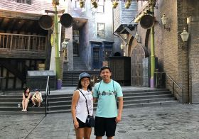Diagon Alley with my Li'l brudder! #siblingfun [instagram]
