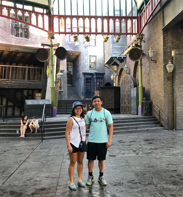 Diagon Alley with my Li'l brudder! #siblingfun