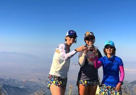 """Back when it was barely 10am, we were at 11,060ft, and the bubbly was poured. But! We were wearing """"Happy Hour"""" shorts by @boausa so yeah.  #myboausa #wcw [instagram]"""