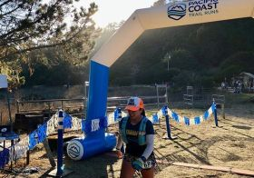 When you finish an ultra instead of meeting the sweet release of death 🤣 #ultrarunningmemes In all seriousness, I'm quite proud of my non-smiling finish at last Saturday's Skyline to the Sea 50km. The course was GORGEOUS but my lack of training coupled with bloating & wasp attack made for an even more challenging race. Still, sharing it with Vegas friends and making new friends made it magical — no invisible unicorn necessary 🤣 📸: @ooh_la_lant [instagram]