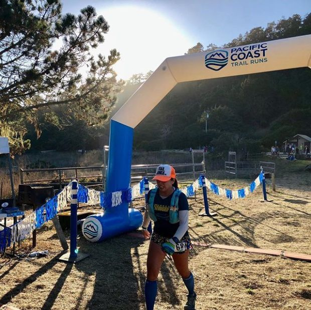 When you finish an ultra instead of meeting the sweet release of death 🤣 #ultrarunningmemes In all seriousness, I'm quite proud of my non-smiling finish at last Saturday's Skyline to the Sea 50km. The course was GORGEOUS but my lack of training coupled with bloating & wasp attack made for an even more challenging race. Still, sharing it with Vegas friends and making new friends made it magical — no invisible unicorn necessary 🤣 📸: @ooh_la_lant