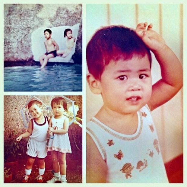 Before he was @rayspiration he was my cuddly little bro!  Happy birfday!! 🏽🤗 #birthdaygram