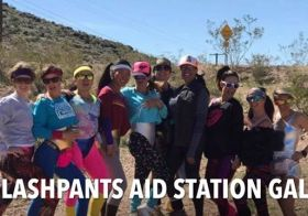 "It was a Saturday of volunteering as I captained the Caldera Aid Station at #bloodsweatandbeers by @desertdashtrailraces I couldn't have been more proud of and thankful for these ladies and their dedication to helping the hundreds of runners that passed through our 80's-themed aid station. We had ""NO REGERTS"" that day (except maybe for not slapping on more sunscreen 🤣) [instagram]"