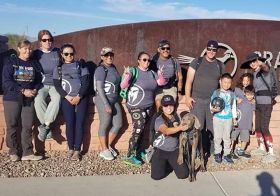 "It's always a great time rucking with friends and an even better time when it's a food drive ruck to benefit @threesquarelv The @vegasstrongruckers + my pup @sterlingd.weim signed up for #OperationLegacy with the @travismanionfoundation A few weeks before this ruck, @johnberunning organized a food drive and we filled the large blue bin from #threesquarelasvegas.4 miles, one ice-cream stop, and several ""Leave it"" commands towards Sterling later, we made it to our destination! I only had 20# in my #Rucker since my 60# almost 6mos old pupper kept me on my toes (and at one point, was able to trip me 🤣). Just another scar to add to my collection on my left leg  Our ruck was in honor of Marine Raider Gunnery Sgt.  Scott A Koppenhaffer (KIA 8/10/2019). #goruckclub #goruck #beyondvegas #vegasstrong : @johnberunning [instagram]"