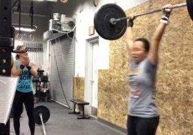 """Boxing Day WOD (CompTrain's Friday workout) Still """"piking"""" on my double unders, but I PR'd my Clean & Jerk! 115# Perhaps my last PR of 2019??? #houseofhustleandmuscle #crossfit #crossfitnonprofit #crossfitgirls #womenwholift [instagram]"""